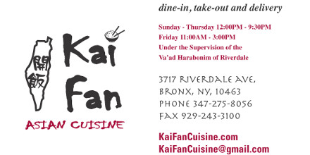 Kai Fan Asian Cuisine, Chinese, Korean, Thai, sushi