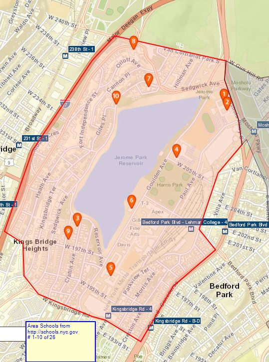 Van Cortlandt Jewish Center – Area Schools